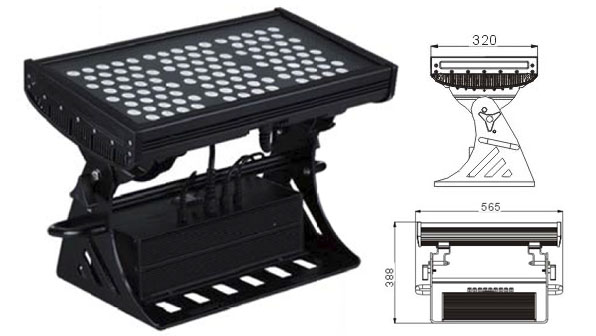 Guangdong udhëhequr fabrikë,LED dritat e përmbytjes,250W Sheshi IP65 RGB LED dritë nga përmbytjet 1, LWW-10-108P, KARNAR INTERNATIONAL GROUP LTD
