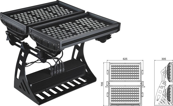 Guangdong zavodu idarə etdi,sənaye rəhbərliyi işıqlandırması,500W Square IP65 DMX LED divar yuyucusu 2, LWW-10-206P, KARNAR INTERNATIONAL GROUP LTD