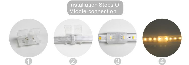 Guangdong zavodu idarə etdi,lent kəsdi,110V AC Kablolama SMD 5730 LED ROPE LIGHT 10, install_6, KARNAR INTERNATIONAL GROUP LTD